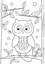 Owl Drawing Simple Coloring Pages Print Easy Drawings Draw Owls Colornimbus Designs Cool Getdrawings sketch template