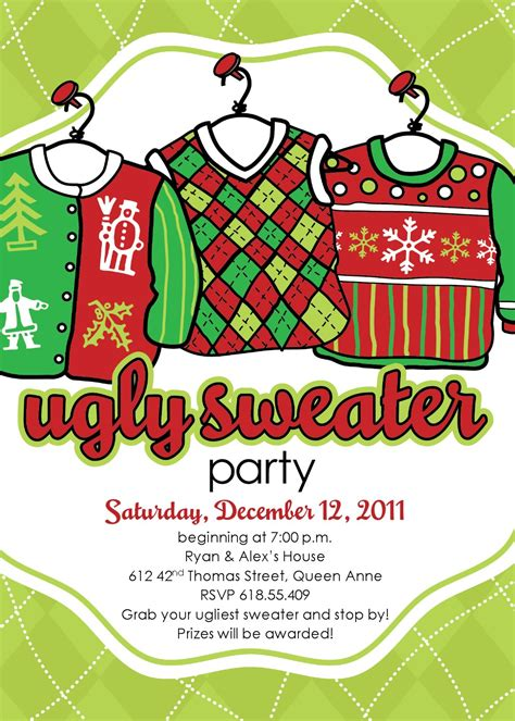 ugly christmas sweater invitation