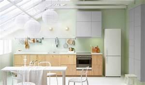 Cuisine Ikea Blanche Et Bois : cuisine blanche 10 mod les de cuisines lumineuses et ~ Dailycaller-alerts.com Idées de Décoration