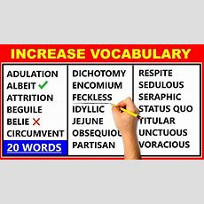 20 Difficult English Words  Improve Your Vocabulary  Learn Advanced English ️ Youtube