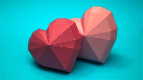 heart shape papercraft model
