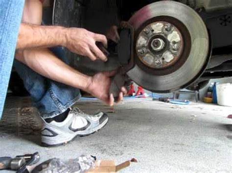 changing front brake pads   acura youtube