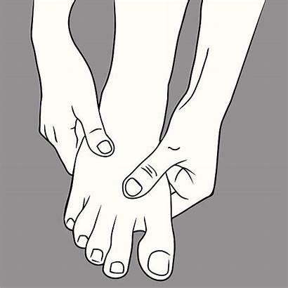 Foot Clip Scrub Vector Massage Illustrations Graphics