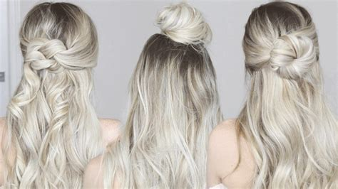 3 Easy Half Up Hairstyles