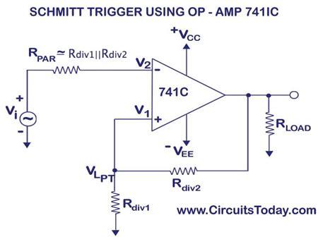Schmitt Trigger Circuit Using Amp Design