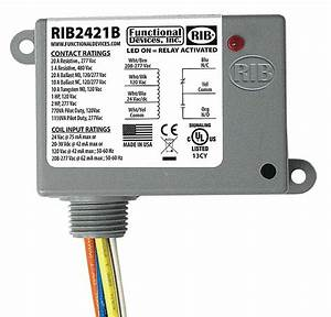 Functional Devices Inc    Rib Prewired Relay  24vac  Dc  120