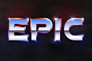 Recreate the Epic 80's Metal Text Effect in Photoshop  Epic