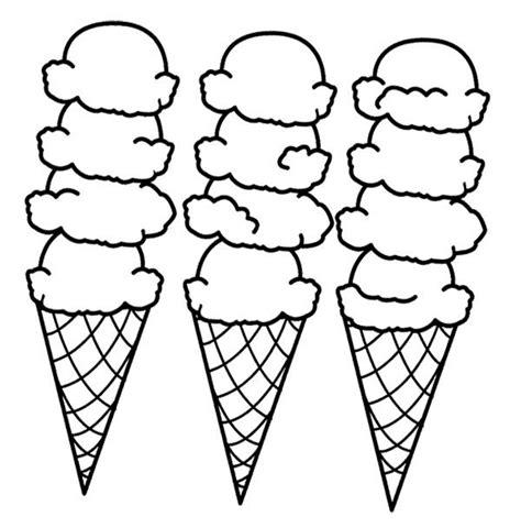 big ice cream cones coloring page coloring sheets ice