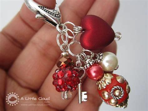 purse clip jewelry keychain clip  key charm red