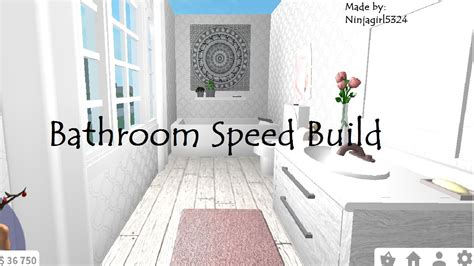 bloxburg bathroom speed build youtube