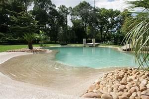 piscine avec plage immergee la piscine plage immerg e s With wonderful plage piscine pierre naturelle 7 les piscines de forme libre