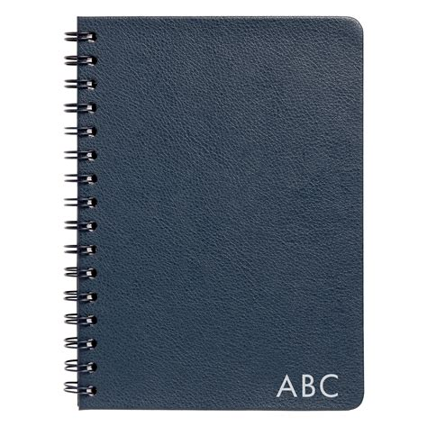 Akhwat Spiral Notebook a5 leather spiral notebook navy leather essentials