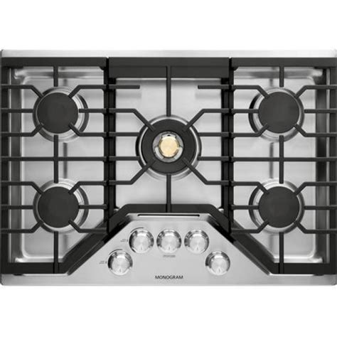 ge zgurslss monogram   natural gas cooktop   sealed burners  stainless steel