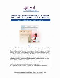 Evidence-Based Decision Making in Action:Part 1 - Finding ...