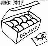 Coloring Junk Food Pages Kawaii Print Drawing Colorings Printable Getcolorings Clipartmag Getdrawings sketch template