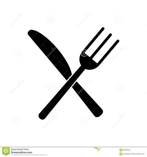 pictogramme cuisine fourchette d 39 ustensiles et pictogramme de couteau croisés