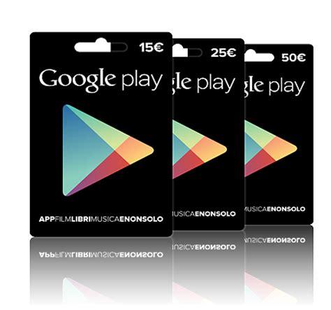 usare le carte regalo sul google play