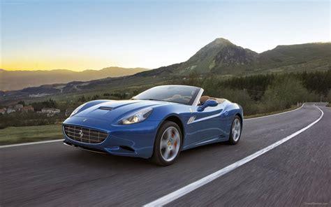 With the adventure tour california dreamin': Ferrari California Blue on Street Car HD Wallpaper   Wallpaperautocars