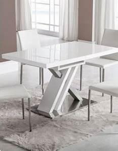 table de salle a manger extensible pratique et esthetique With meuble salle À manger avec table a manger blanche avec rallonge
