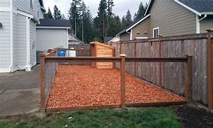17 best images about east olympia kennel with cedar chips With wood chips for dog kennel