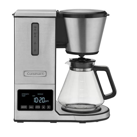 12 cup programmable coffee maker dcc 1200mr202772266. Cuisinart PurePrecision 8-Cup Programmable Silver Drip Coffee Maker-CPO-800 - The Home Depot