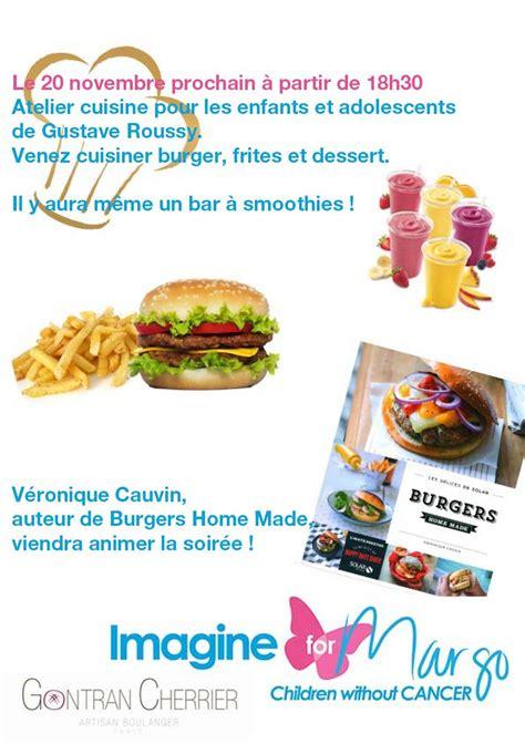 affiche atelier cuisine atelier cuisine pour les enfants et adolescents de gustave roussy