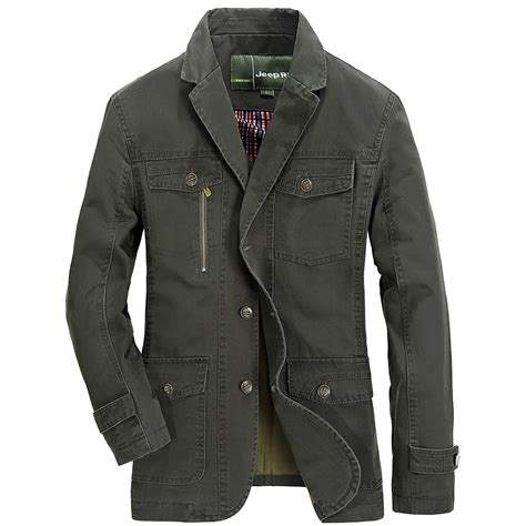jeep rich jacket jeep rich 174 men spring fall casual cotton blend solid color