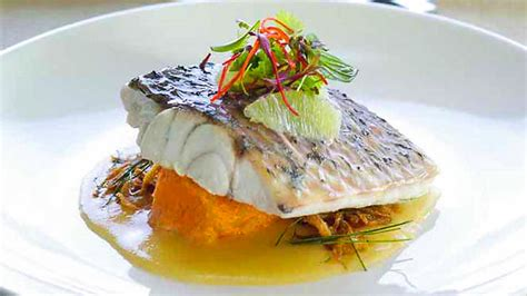haute cuisine dishes steamed barramundi with lime coconut sauce recipe sbs food