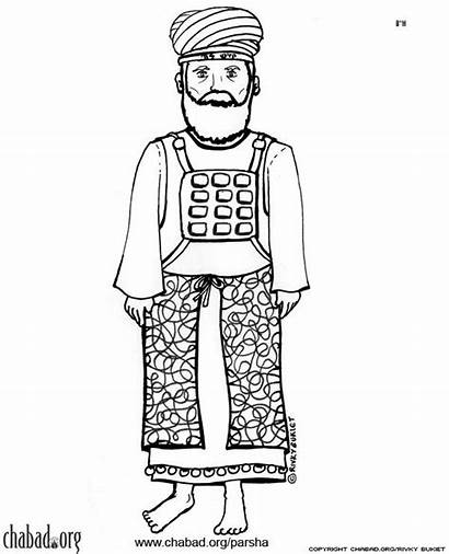 Tabernacle Coloring Pages Priest Bible Hebrew Crafts