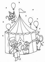 Coloring Acrobat Circus Tent Coloringbay sketch template