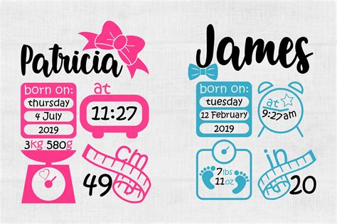 Free birth stats board svg cut file for baby announcement, printable vector clip art download. Birth Stats Svg Birth Announcement Svg Baby Stats Svg Pdf