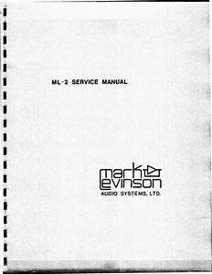 Mark Levinson Ml-2 Original Service Manual