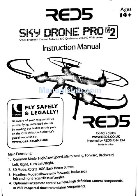 red sky drone pro  instruction manual   manualslib