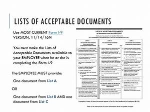 alliance 2017 session 4427 employment eligibility With list of acceptable documents i 9 2017