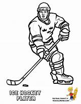 Coloring Hockey Player Pages Sheets Ice Players Drawing Print Hat Yescoloring Boys Winter Nhl Printable Rangers York Sports Printables Trick sketch template