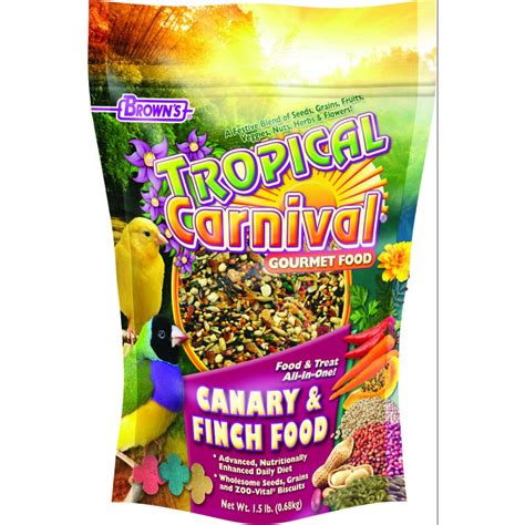 tropical carnival canary and finch food 1 5 pound bird