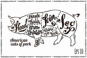 Pig Cuts Meat Stock Illustrations  U2013 527 Pig Cuts Meat