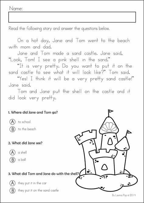 Kindergarten Summer Review Math & Literacy Worksheets