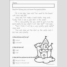 Summer Review Kindergarten Math & Literacy Worksheets & Activities  I Can Read Literacy