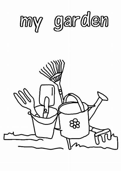 Coloring Tools Garden Pages Gardening Printable Tool