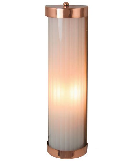 reeded glass wall lights  copper brass  chrome