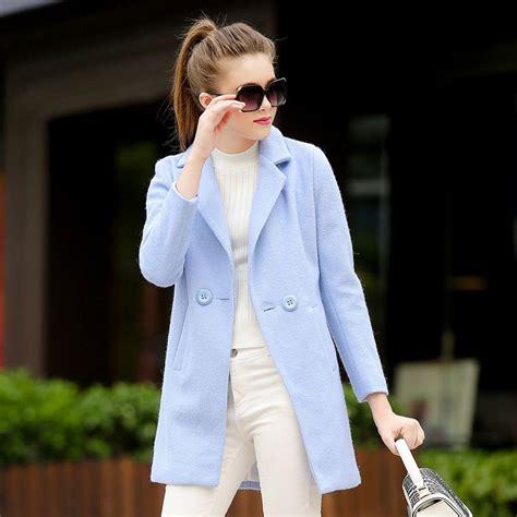 light blue coat womens s light blue wool coat jacketin
