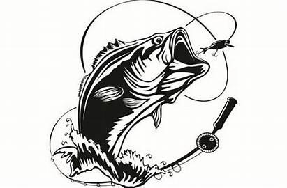 Bass Svg Fishing Fish Largemouth Hook Clipart