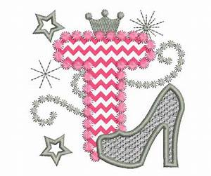 Pink Silver Letter T High Heel Shoe for Cute by ...
