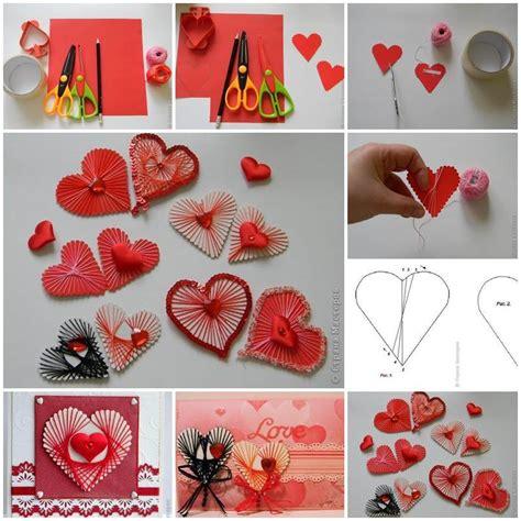 diy unique yarn heart decoration