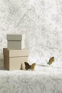 vliestapete rasch florentine blumen vogel grau 449440 With balkon teppich mit rasch tapeten florentine