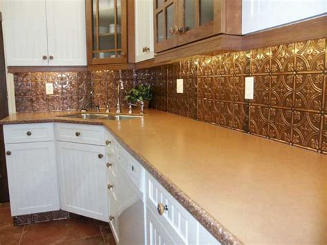 copper backsplash tiles for kitchen 35 beautiful rustic metal kitchen backsplash tile ideas