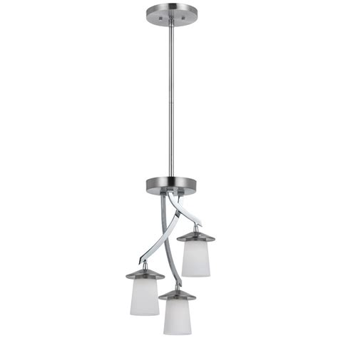 3 light led ceiling pendant brushed nickel contemporary