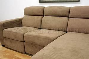 tan microfiber modern reclining sectional sofa w storage With microfiber sectional sofa with storage chaise