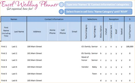 wedding guest list excel teknoswitch